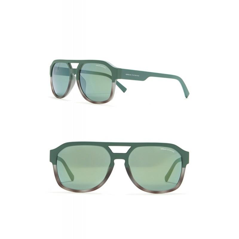 Солнцезащитные очки Armani Exchangе черно-зеленые авиаторы