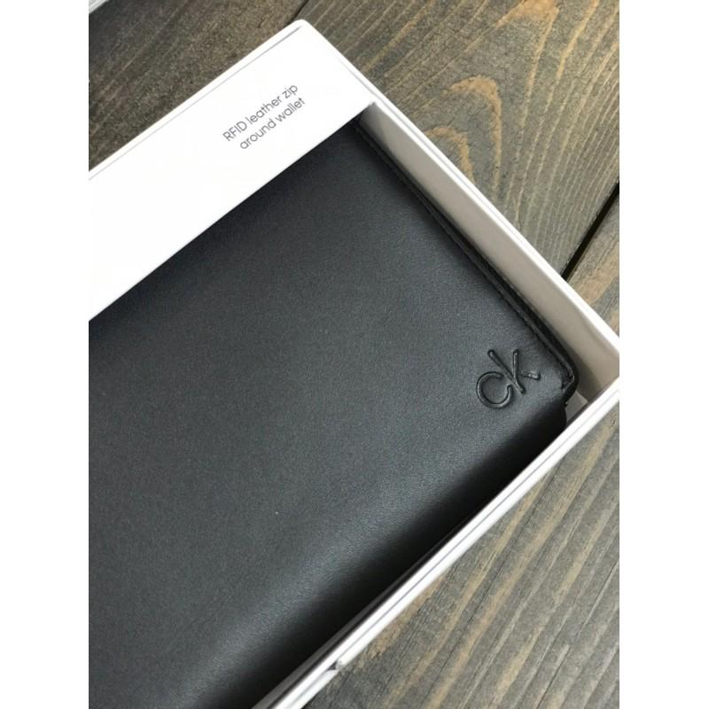 Мужской кошелек из натуральной гладкой кожи Calvin Klein