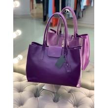 Кожаная фиолетовая сумка итальянского бренда Marina Rinaldi
