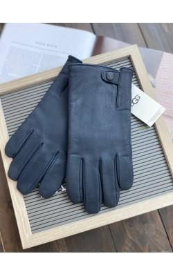 Перчатки кожаные UGG черные