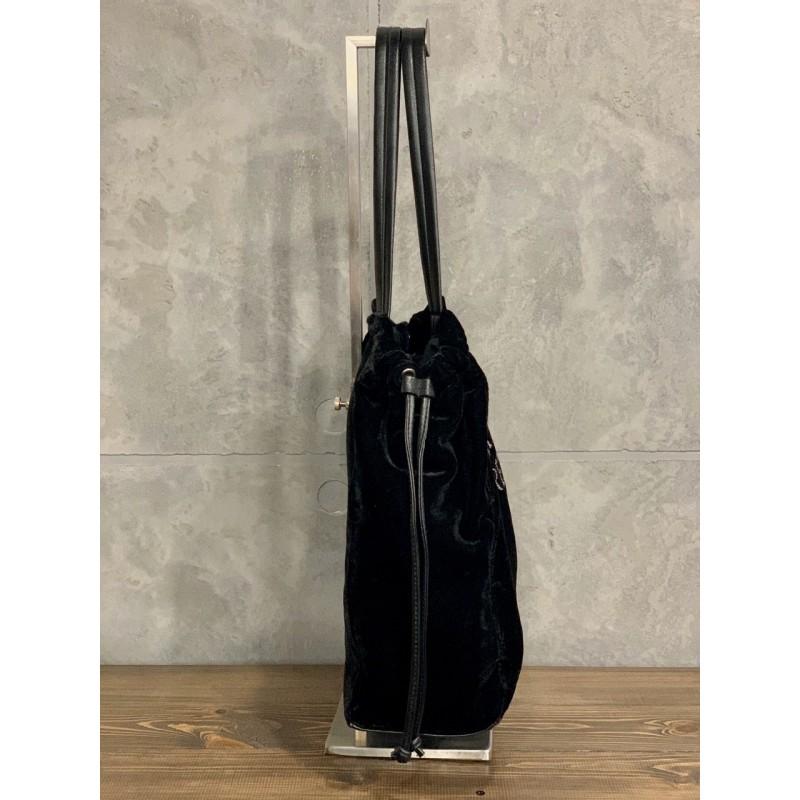 Вельветовая черная сумка Victoria's Secret