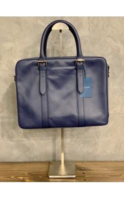 Синяя кожаная сумка Cole Haan