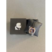 Черные кварцевые часы Karl Lagerfeld Paris