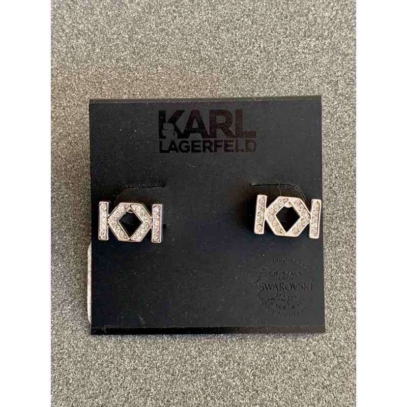 Cерьги с кристалами Swarovski  Karl Lagerfeld Paris