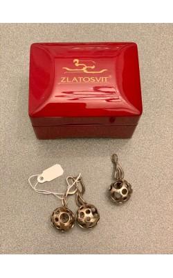 Серебряный комплект Zlatosvit (серьги + кулон)