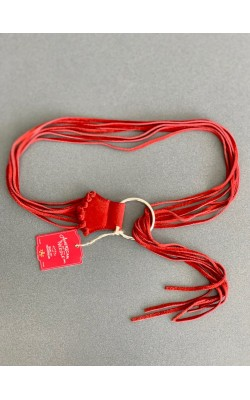Красный замшевый пояс American Needle