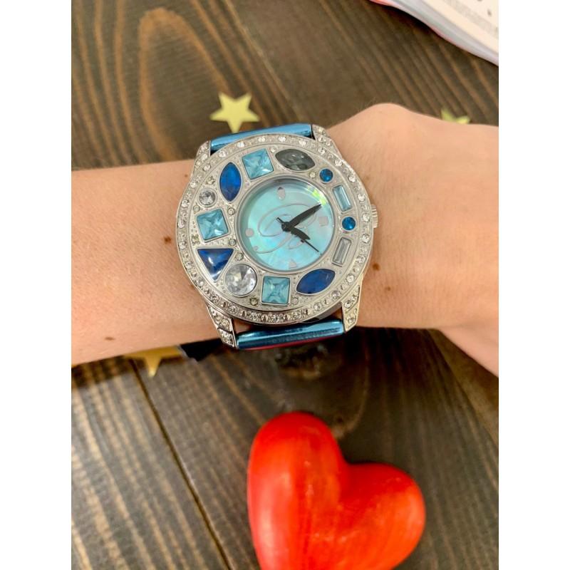 Часы Вlumarine голубые с камнями