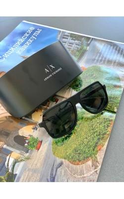 Солнцезащитные очки Armani Exchange черные авиаторы