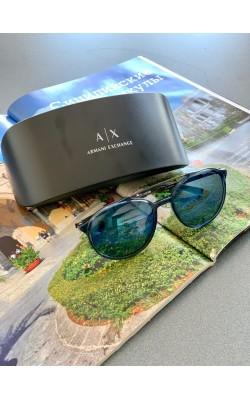 Солнцезащитные очки Armani Exchangе синие авиаторы