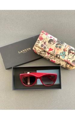 Солнцезащитные очки Lanvin бордовые Cat eye