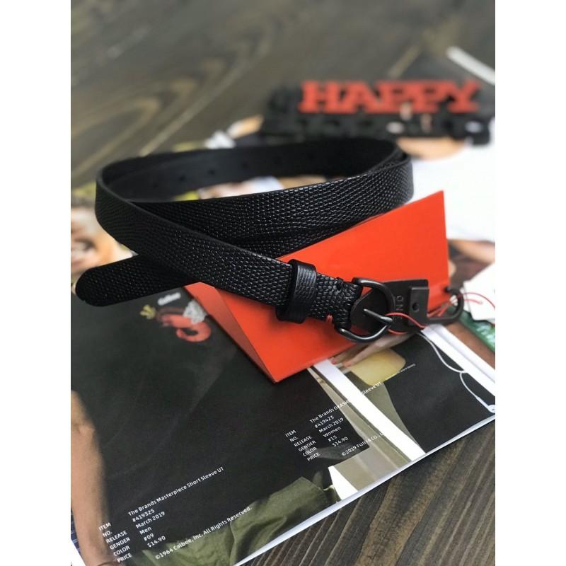 Ремень Uniqlo кожаный черный (INES DE LA FRESSANGE)