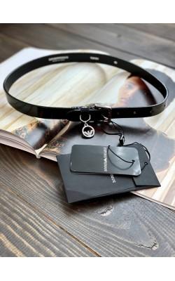 Ремень Emporio Armani кожаный черный