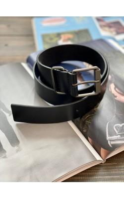 Черный кожаный ремень Calvin Klein Jeans