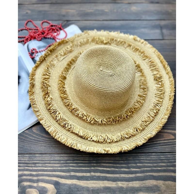 Соломенная шляпа SAN DIEGO HAT с большими полями