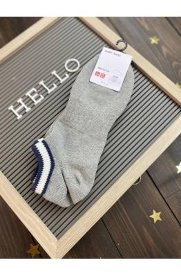 Носки Uniqlo серые с контрастной резинкой