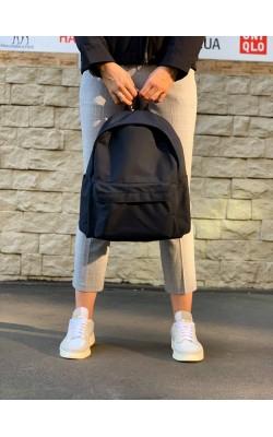 Рюкзак Uniqlo темно-синий текстильный