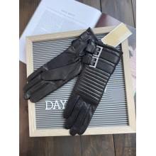 Перчатки Michael Kors черные кожаные Moto Cross