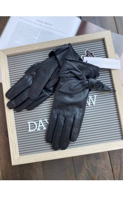 Перчатки Sole Society кожаные черные