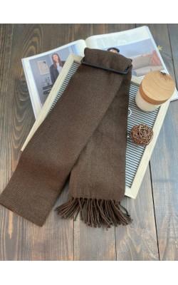 Шарф Uniqlo Heattech мягкий темно-коричневый