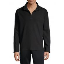 Черная кофта Calvin Klein с разноцветными вставками на рукавах