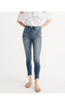 "Джинсы ""super skinny"" с вышивкой  Abercrombie & Fitch"