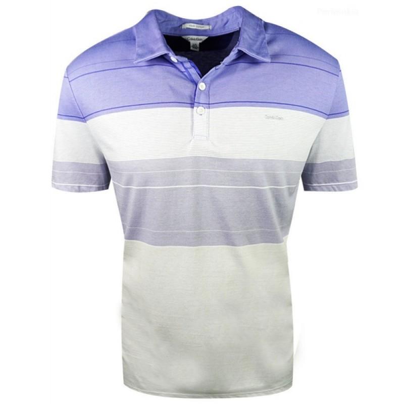 Сиреневая футболка-поло Calvin Klein