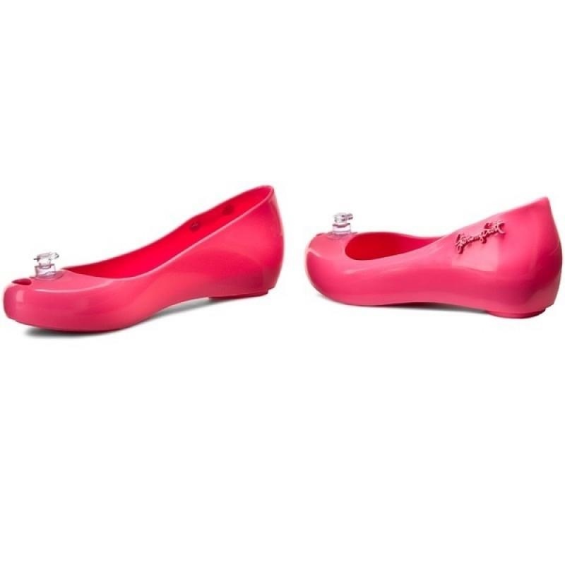 Ярко-розовые балетки Melissa+Jeremy Scott