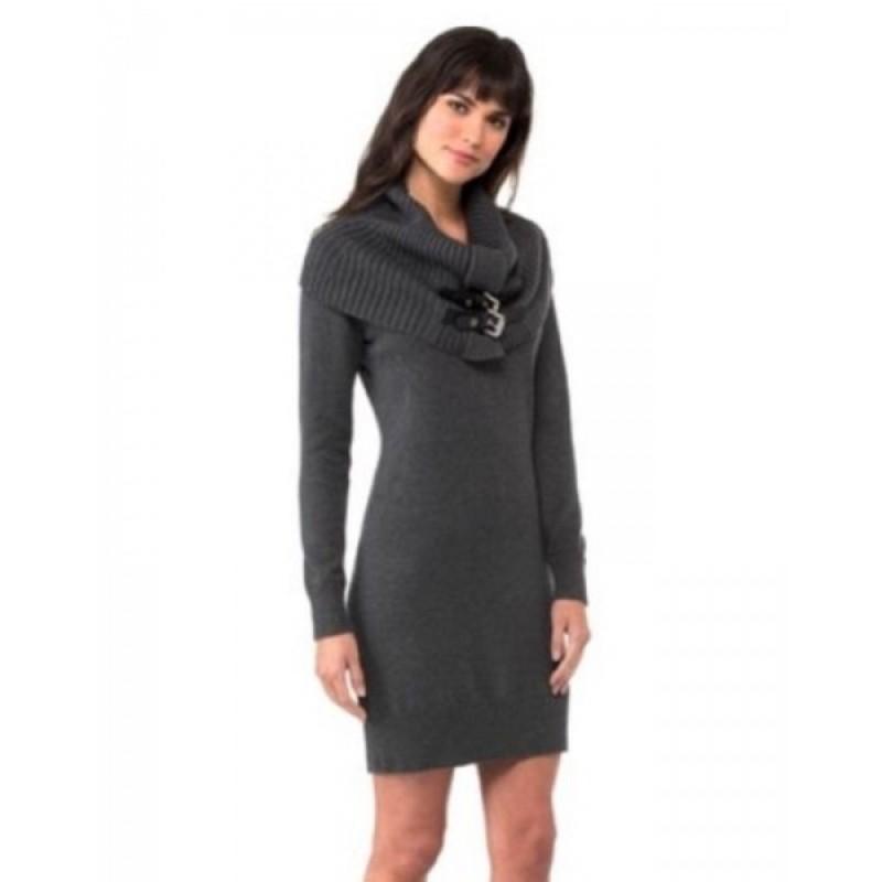 Cерое платье со съемным воротником Michael Kors