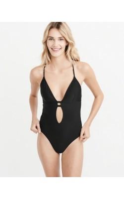 Черный сдельный купальник Abercrombie & Fitch