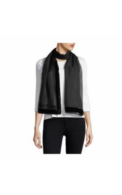 Черный полупрозрачный шарф Calvin Klein