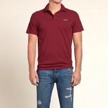 Бордовая футболка-поло Hollister