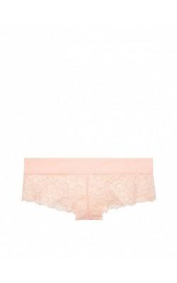 Персиковые ажурные трусики PINK by Victoria's Secret