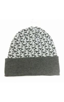 Серая шапка с логотипом  Michael Kors