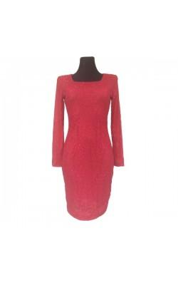 Красное ажурное платье