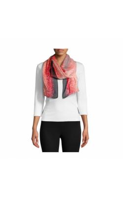 Шелковый полупрозрачный шарф Calvin Klein