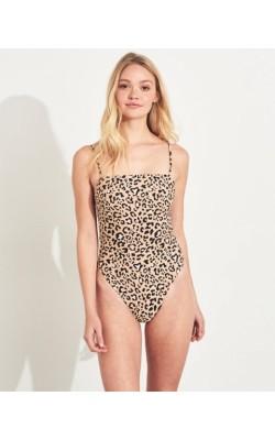 Леопардовый сдельный купальник Hollister