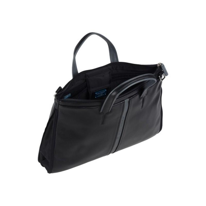 Черная кожаная сумка Piquadro