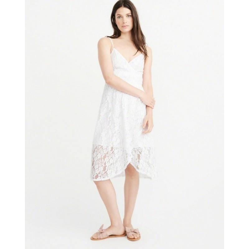Белое ажурное  платье Abercrombie & Fitch
