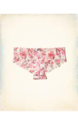 Розовые ажурные трусики Gilly Hicks