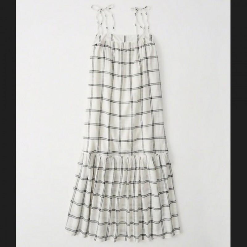 Макси платье в клетку Abercrombie & Fitch