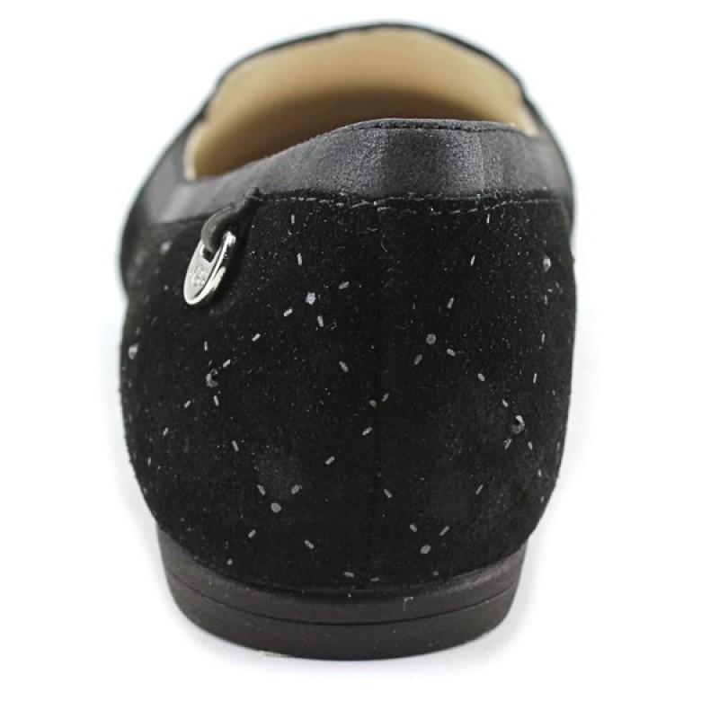 Черные балетки с мехом и камнями Swarovski UGG
