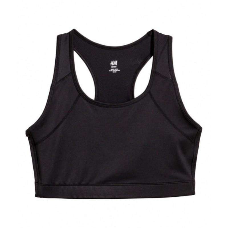 Черный спортивный топ H&M