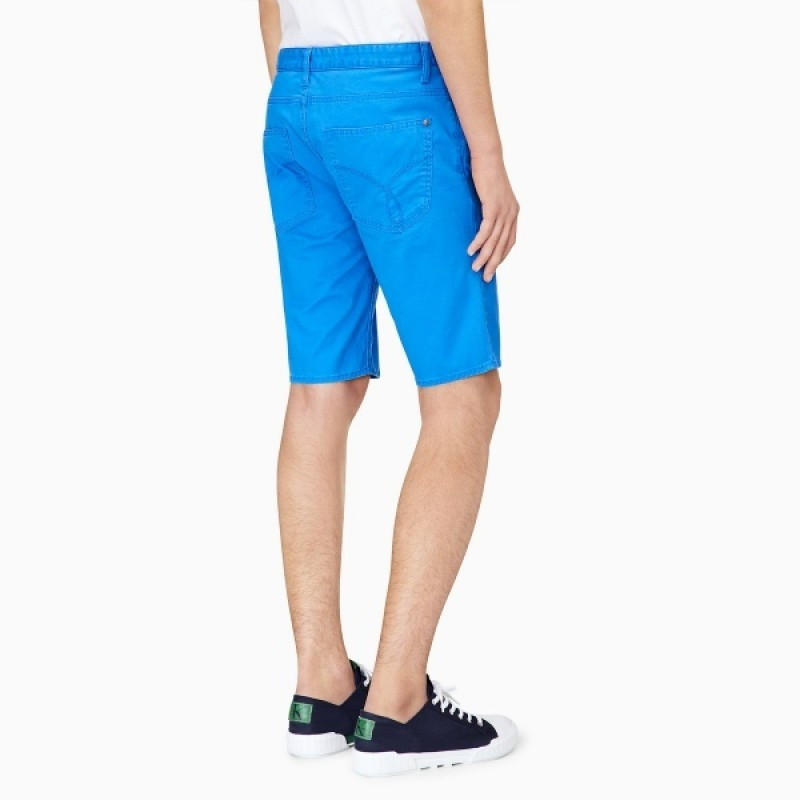 Голубые шорты Calvin Klein Jeans