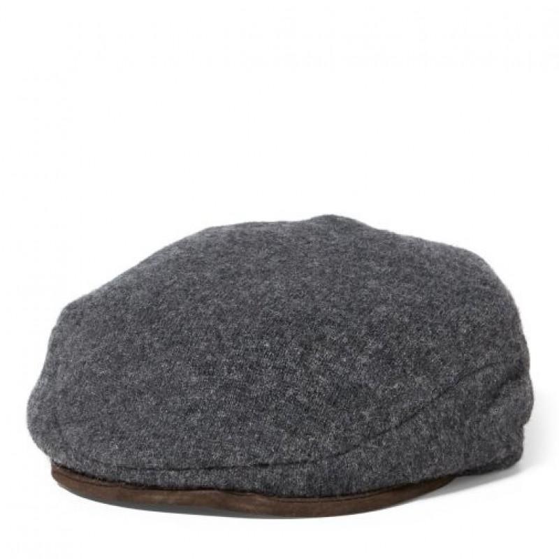 Cерая шерстяная кепка Ralph Lauren