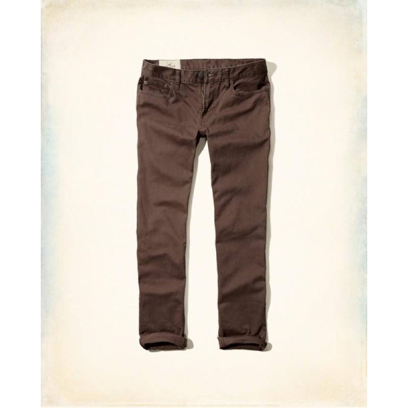 Джинсы Hollister темно-коричневые