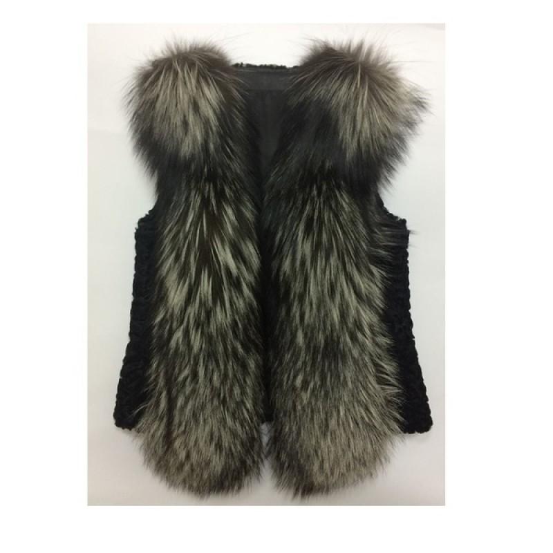 Жилетка с мехом чернобурки Fashion Furs