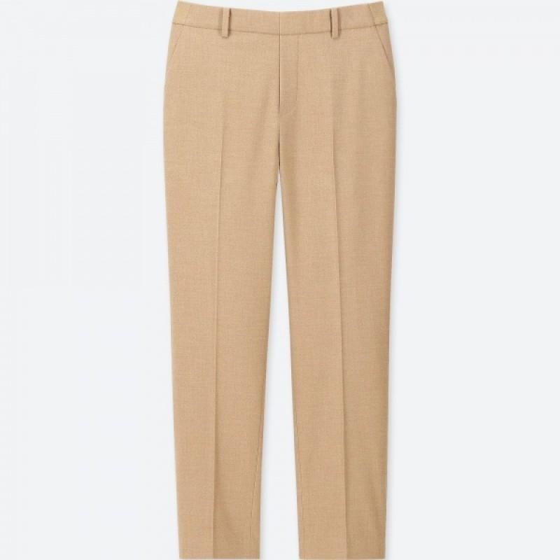 Бежевые фланелевые брюки  Uniqlo