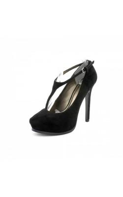 Черные туфли с ремешком Pelle Moda