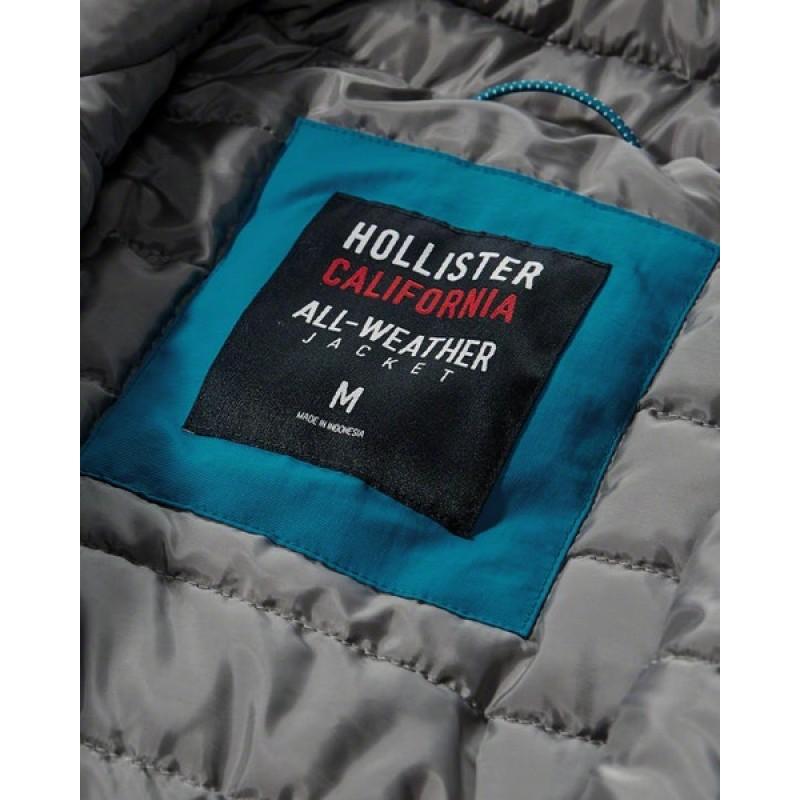 """Голубая куртка Hollister """"all-weather"""""""
