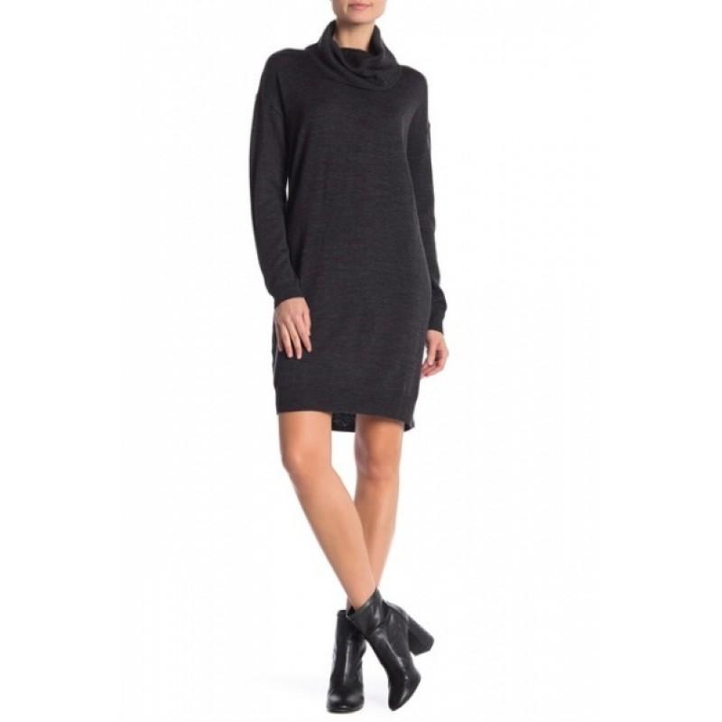 Темно-серое шерстяное  платье Joe Fresh